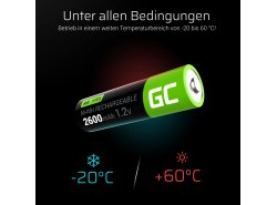 Green Cell 4x AA HR6 2600mAh Akku