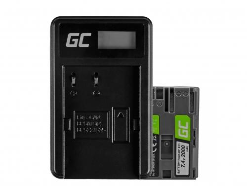 Green Cell ® Akku BP-511 und Ladegerät CB-5L für Canon EOS 5D, 10D, 20D, 30D, 50D, D30, 300D, PowerShot G1, G2, G3, G5, Pro 1