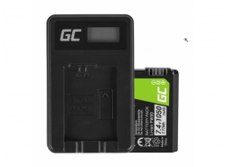 Green Cell ® Akku FW50 und Ladegerät BC-TRW für Sony Alpha A7, A7 II, A7R, A7R II, A7S, A7S II, A5000, A5100, A6000, A6300