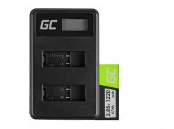 Green Cell baterie ® a nabíječka AHDBT-501 AABAT-001 pro GoPro HD HERO5 HERO6 HERO7 Black 3.85V 1220mAh