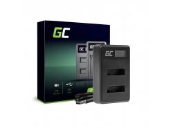 Doppelladegerät BC-TRX Green Cell ® für Sony NP-BX1 Cyber-Shot-DSC AS10 AS15 AS50R HX50V HX300 RX1 RX1R RX100MII RX100V RX100V