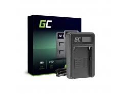 Ladegerät  AC-VL1 Green Cell ® für Sony NP-F970, A58 A65 A77 A99 A900 A700 A850 SLT A99 II UPX CCD CR CRX10U CVX DCM DCR EVO