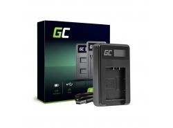 Ladegerät BC-TRX Green Cell ® für Sony Action Cam NP-BX1, Cyber Shot DSC-HX50V HX300 HX400 RX100II RX100MII RX100V RX100V AS15