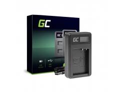 Ladegerät DE-A79B Green Cell ® für Panasonic DMW-BLC12, Lumix G7 G5 G81 G6M G70M GX8EG-K GX8 G70 G85 FZ1000 FZ300 FZ2000 FZ200