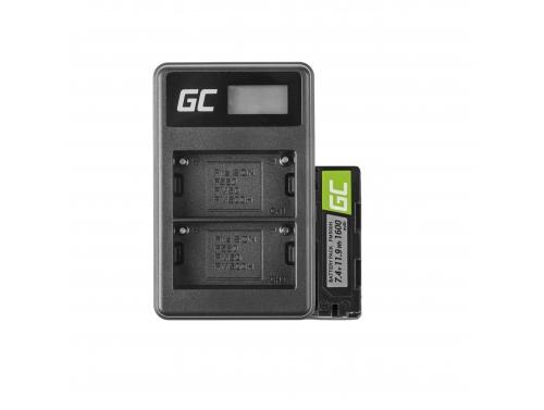 Baterie Green Cell Cell® NP-500 a nabíječka BC-V615 pro Sony A58, A57, A65, A77, A99, A900, A700, A580
