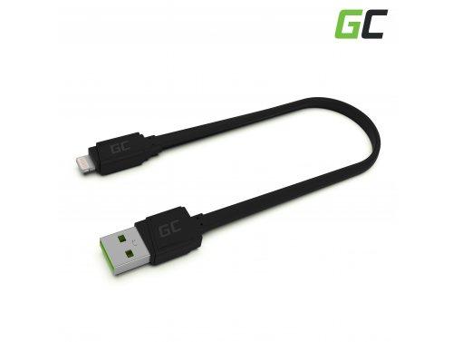 Green Cell GCmatte USB - Lightning 25cm kabel pro iPhone, iPad, iPod, rychlé nabíjení