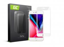 Schutzglas für Apple iPhone 7 8 - Weiß GC Clarity Panzerglas Schutzfolien Displayschutz 9H Härte
