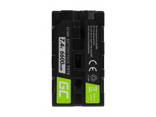 Green Cell ® NP-F550 NP-F750 NP-F530 Kamera-Akku für Sony MVC FDR3E FD200 DCR TRV120E VX2100 TRV320E HDR-FX1 (6600mAh 7.4V)