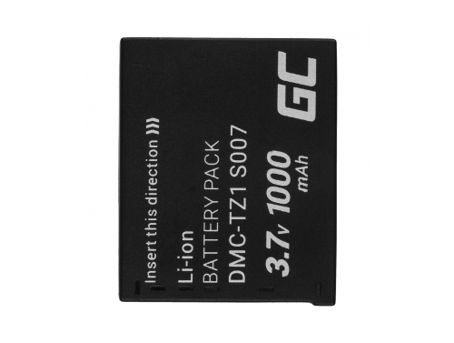 Green Cell ® CGA-S007E CGA-S007 Kamera-Akku für Panasonic Lumix DMC TZ1 TZ2 TZ2GK TZ3 TZ3A TZ3K TZ4 TZ5 TZ11 (1000mAh 3.7V)