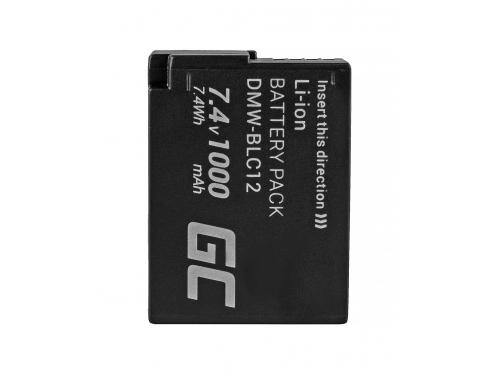 Green Cell ® DMW-BLC12E Kamera-Akku für Panasonic Lumix G5 G5X G6 G7 G80 DMC FZ300 FZ1000 FZ2000 Full Decoded (1000mAh 7.4V)