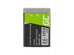 Baterie Green Cell ® NB-13L pro Canon PowerShot G1 G5 G7 G9  X Mark II SX620 HS SX720, Full Decoded 3.6V 1010mAh