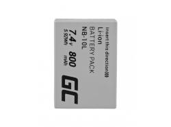 Green Cell ® Akku NB-10L pro Canon PowerShot G15, G16, G1X, G3X, SX40 HS, SX40HS, SX50 HS, SX60 HS 7,4 V 800 mAh