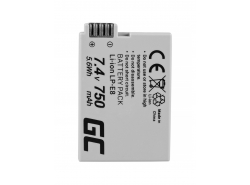 Green Cell ® LP-E8 LPE8 Kamera-Akku für Canon EOS 550D 600D 650D 700D Kiss X4 X5 X6 Rebel T2i T4i Full Decoded (750mAh 7.4V)