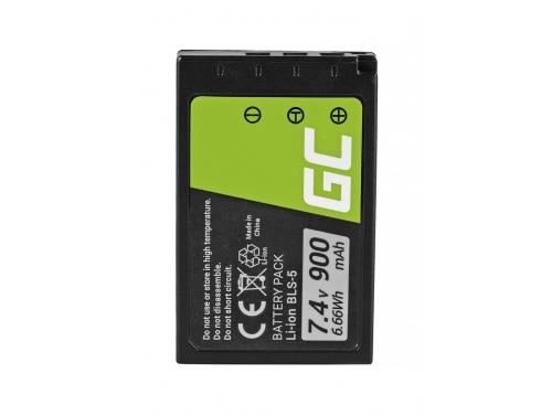 Green Cell ® BLS-50 BLS-5 Kamera-Akku für Olympus E-M10 Mark II/III OM-D E-M10 Stylus E-PL2 E-410 E-420 E-450 (900mAh 7.4V)