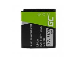 Green Cell ® NP-50 Kamera-Akku für FujiFilm FinePix X10 X20 XP100 XP110 XP150 F660EXR F770EXR REAL 3D W3 XF1 (750mAh 3.7V)