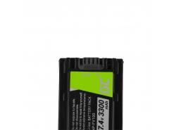 Bateria Green Cell ® NP-FV100 / NP-FV50 do Sony DCR-DVD506E DCR-DVD510E HDR-CX116E HDR-CX130 HDR-CX155E HDR-UX9E 7.4V 3300mAh