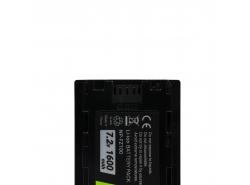 Bateria Green Cell ® NP-FZ100 do Sony Alpha A7 III A7R III A9 A9R A9S ILCE-7M3 7RM3 7.2V 1600mAh
