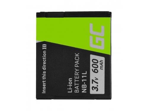 Green Cell ® NB-11L Kamera-Akku für Canon IXUS 125HS 240HS 265HS 275HS 285HS PowerShot ELPH 110HS 320HS 340HS 9 (600mAh 3.7V )