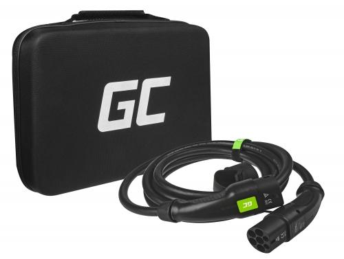 Ladekabel Green Cell GC Type 2 zum Laden von EV Tesla Leaf Ioniq Kona E-tron Zoe 22kW 5 meter mit Koffer