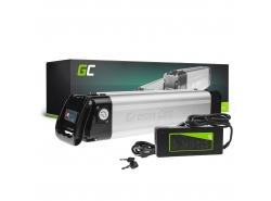 Green Cell® E-Bike Akku 24V 10.4Ah Li-Ion Silverfish Batterie mit Ladegerät