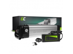Green Cell® E-Bike Akku 36V 8.8Ah Li-Ion Silverfish Elektrofahrrad Batterie mit Ladegerät