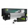 Green Cell® E-Bike Akku 24V 8.8Ah Li-Ion Silverfish Batterie mit Ladegerät