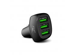 Green Cell GC PowerRide 54W 3xUSB 18 W autonabíječka s technologií rychlého nabíjení Ultra Charge