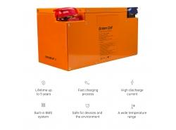 LiFePO4 baterie 120Ah 12,8V 1535Wh lithium železo fosfátová baterie fotovoltaická kamera