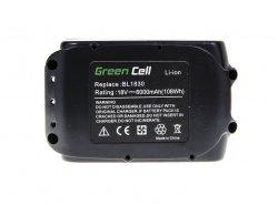 Green Cell ® Akkuwerkzeug BL1830 BL1860 für Makita BDF450SFE BTL061RF BTW450RFE 6000mAh