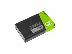 Baterie Green Cell ® 361-00053-00 pro Garmin Alpha 100 handheld Montana 600 600T 650 Camo 650 650T Monterra, Li-Ion 2200mAh 3.7V