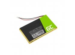 Baterie Green Cell ® IA2B309C4B32 pro GPS Garmin Nuvi 300 310 350 360 360T 370 Navgear Streetmate GP-43, Li-Polymer 1250mAh 3.7V