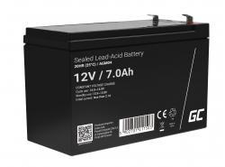 Green Cell® AGM 12V 7Ah Akku VRLA Blei-Batterie Unbemann UPS USV-Anlage UPS-Anlage Backup-Batterie