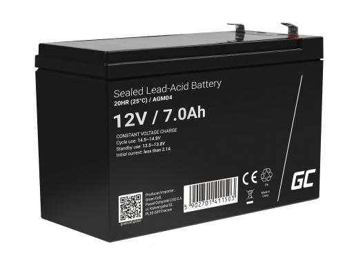 AGM GEL Batterie 12V 7Ah Blei Akku Green Cell Wartungsfreie für UPS und Notfallsysteme
