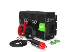 Napěťový převodník Green Cell ® 300W / 600W, měnič napětí 12V až 230V, USB