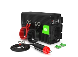 Auto Spannungswandler Green Cell ® 12V do 230V, 300W/600W Volles Sinusoid