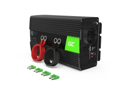 Měnič Green Cell ® 1000W / 2000W Pure Sine Voltage Converter 12V 230V
