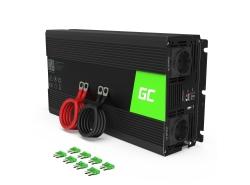 Green Cell® 1500W/3000W Reiner Sinus Spannungswandler Wechselrichter 24V 230V Inverter