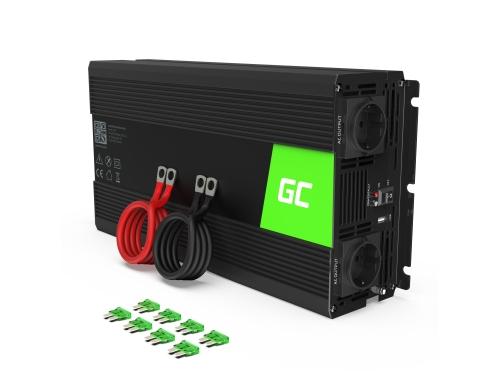 Green Cell® Wechselrichter Spannungswandler 12V auf 230V 1500W/3000W Reiner sinus