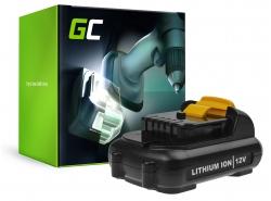 Green Cell® Batterie Akku (2.5Ah 10.8V) DCB120 DCB121 DCB123 für DeWalt DCD710 DCF815 DCF813S2 DCD701F2 DCS310B