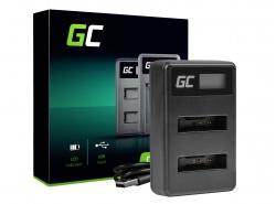 Green Cell ® Doppelladegerät LI-50C für Olympus LI-50B, SZ-15 SZ-16 Robust 6000 8000 TG-810 TG-820 TG-830 TG-850 VR-370 XZ-1