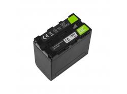 Akumulátorová baterie Zelená buňka NP-F960 NP-F970 NP-F975 pro Sony 7.4V 7800mAh