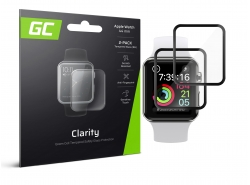 2x GC Clarity Schutzglas für Apple Watch 4/5 44mm