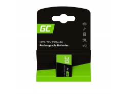 Batterie Akku 1x 9V HF9 Ni-MH 250mAh Green Cell