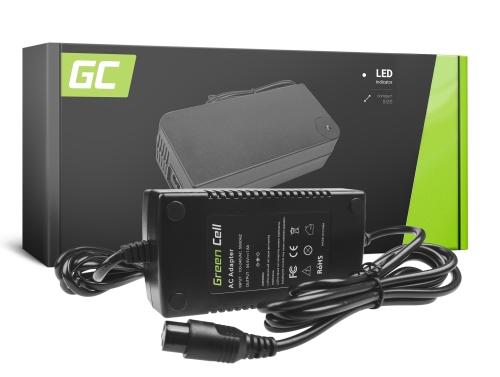 Green Cell ® Ladegerät für Elektrofahrräder, Stecker: 3 Pin, 54.6V, 1.8A