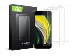 3x Ochranné sklo GC Clarity pro Apple iPhone SE 2020 / 6 / 6S / 7 / 8