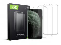 3x Ochranné sklo GC Clarity pro Apple iPhone X / XS / 11 Pro