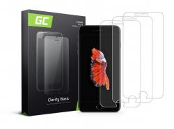 3x Schutzglas für Apple iPhone 6 Plus / 6S Plus / 7 Plus / 8 Plus GC Clarity Panzerglas Schutzfolien