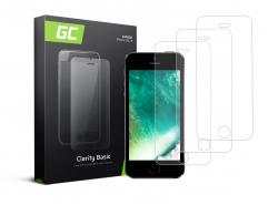 3x Schutzglas GC Clarity für Apple iPhone 5 / 5S / 5C / SE