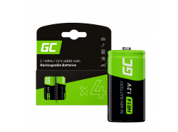 Baterie 4x C R14 HR14 Ni-MH 1.2V 4000mAh Green Cell