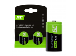 Batterie Akku 2x D R20 HR20 Ni-MH 1,2 V 8000 mAh Green Cell